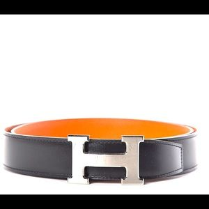 "Hermes Reversible Constance ""H"" Belt"
